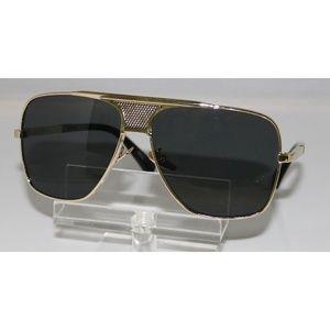 New Oversized Men's Gold Sunglasses